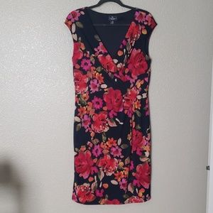 American Living Navy Floral Dress
